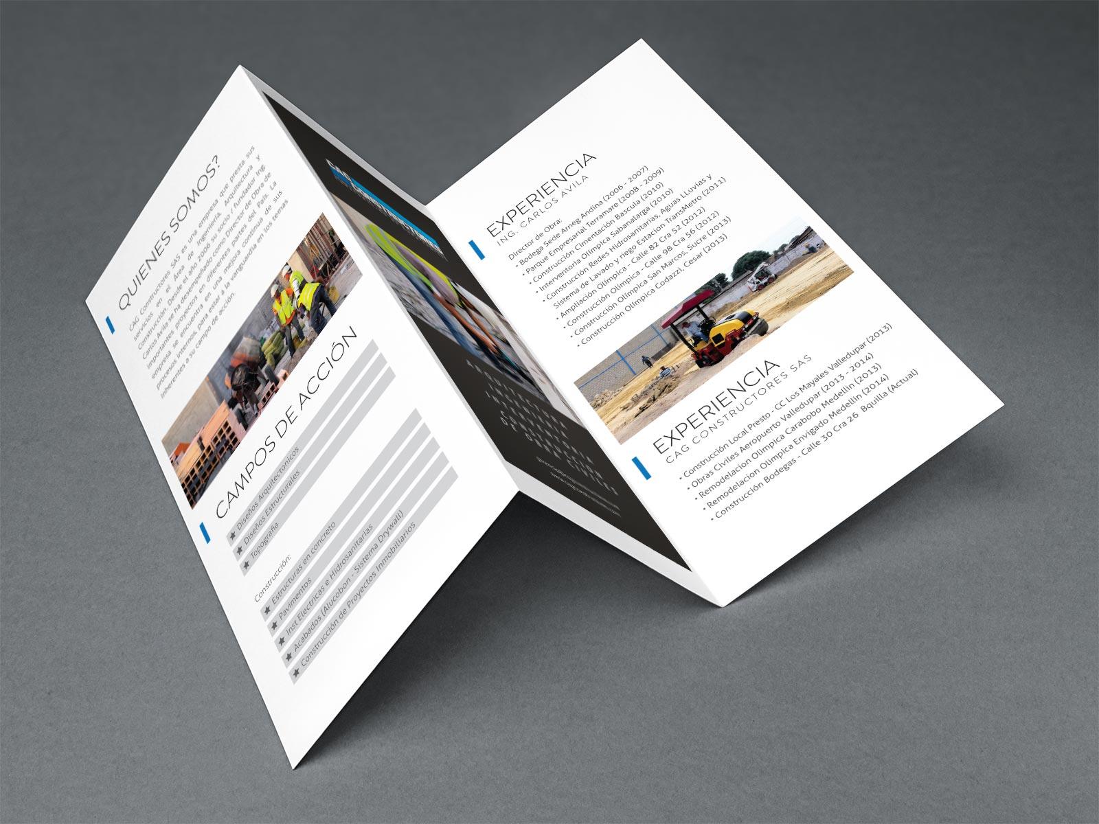 CAG Constructores brochure design