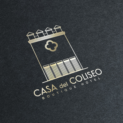 Casa del Coliseo logo design