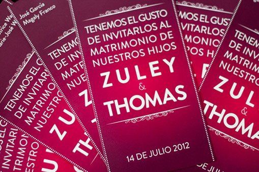 Zuley & Thomas Wedding Invitation